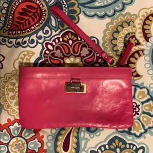 Pink Classic Kate Spade Wristlet